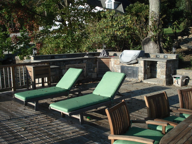 Lakefront Dock Project - Mediterranean - Patio - New York ... on Lakefront Patio Ideas id=33484