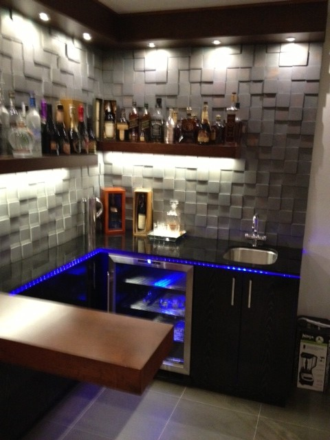 Cool Design For Small Bar Contemporary Wine Cellar Los Angeles By BAUFORMAT