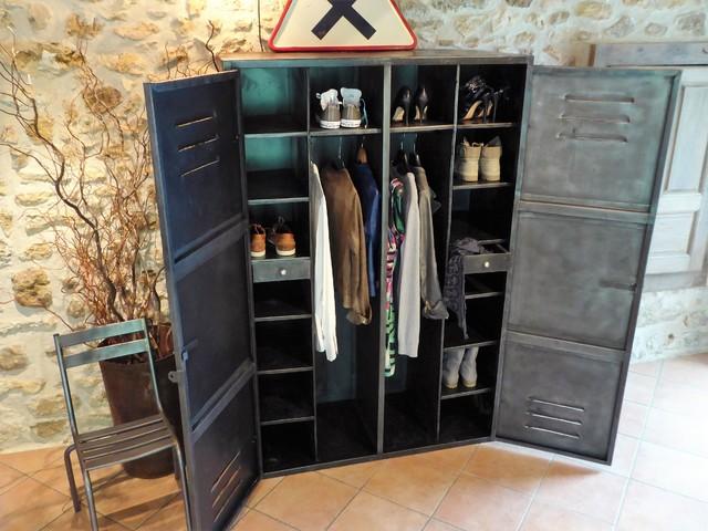 Armoire Mtal Annes 50 Industriel Vintage Dressing