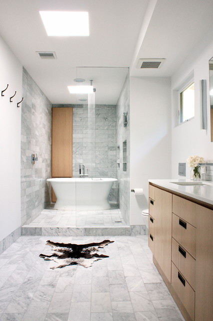 Wet Area Shower & Tub - Contemporary - Bathroom - los ... on Wet Room With Freestanding Tub  id=13347
