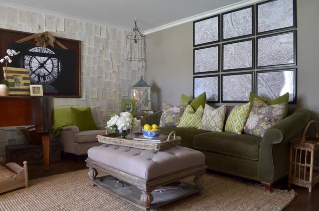 Small Green Living Room Design Interior Using Fabric Sofa And Minimalist Tv Cabinet Ideas