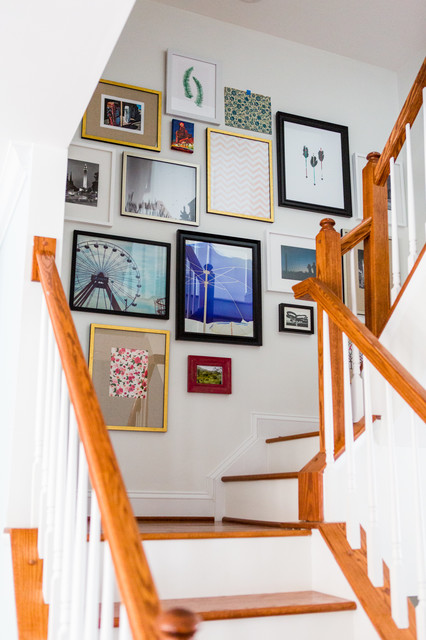 Baltimore City Townhouse Refresh transitional-staircase
