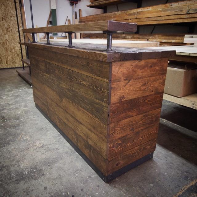 Back Stool Bar Rustic Low