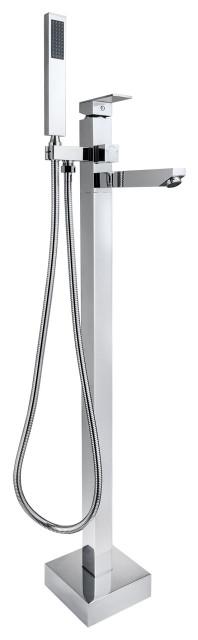 akdy brass 38 handheld shower head freestanding bathtub faucet chrome finish