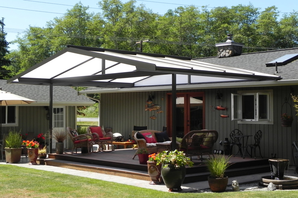Patio Covers Create Year Round Outdoor Living Space ... on Farmhouse Outdoor Living Space id=88919