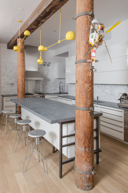 SoHo NYC Loft Kitchen With Virginia Alberene Soapstone