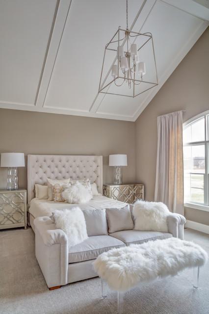 Vaulted Ceiling Master Bedroom Transitional Bedroom