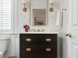 transitional-powder-room 10 Things to Enhance Your Powder Room for the Holidays or Anytime Upholstery in Clapham Junction