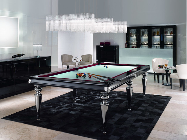 Glass Pool TableBilliard Table Contemporary Family