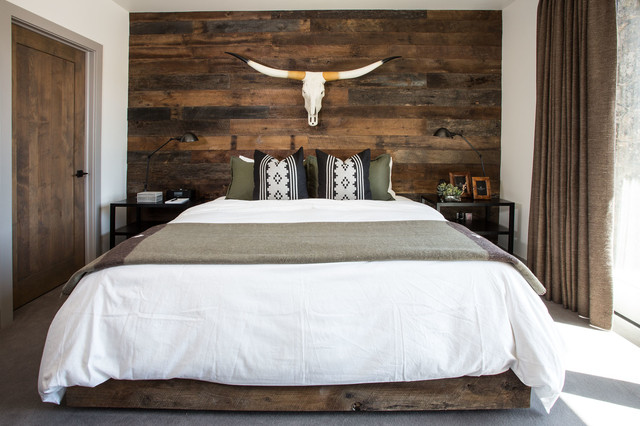 modern rustic lodge | victory ranch | park city - rustic - bedroom