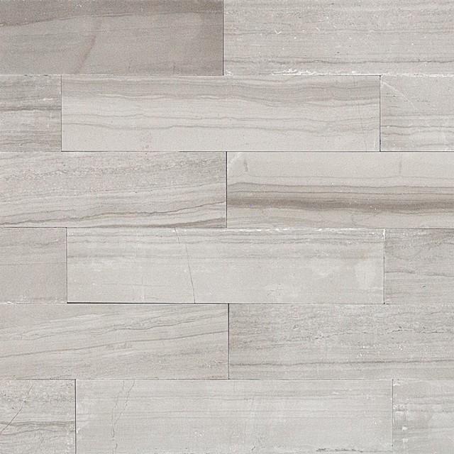 oriental 2 x8 marble wood look tile gray