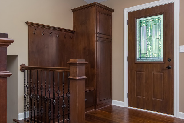 Front Door Coat Rack And Bench Seat Traditional Entry
