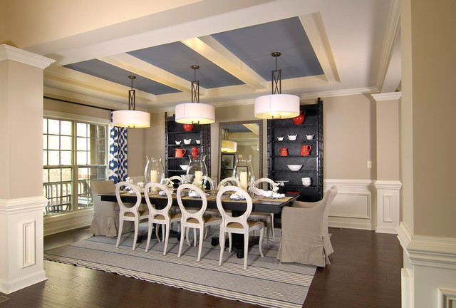 Model Home Transitional Dining Room Charlotte By