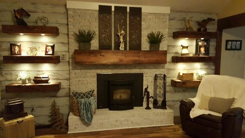 Shelving Around Fireplace Best Modern Design Ideas Charming Family Room With