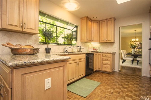 What wood flooring would work with my maple cabinets and ... on What Color Countertops Go With Maple Cabinets  id=50542