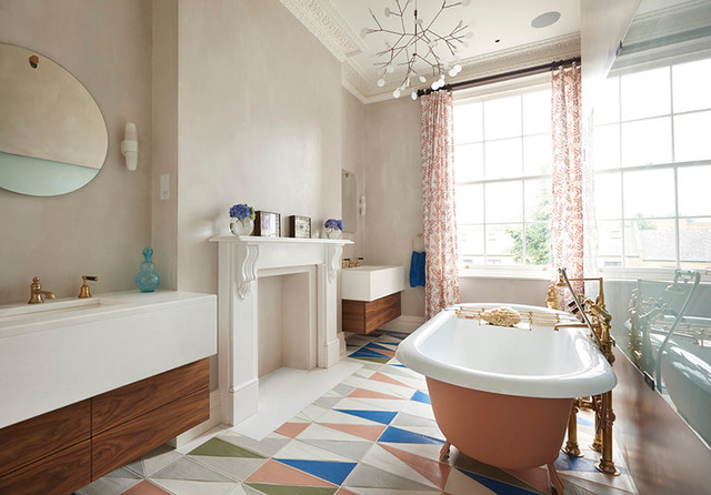 Drummond's Case Study: London Townhouse, Notting Hill eclectic-bathroom