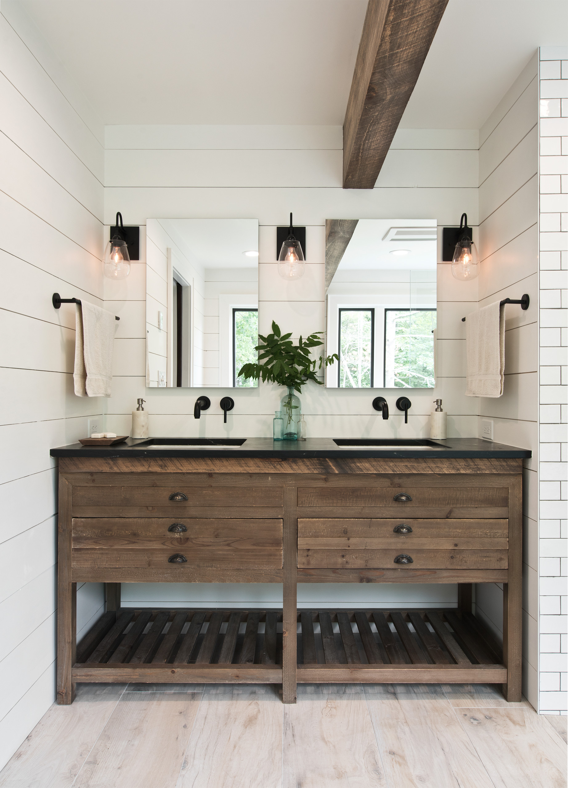 75 beautiful white subway tile bathroom