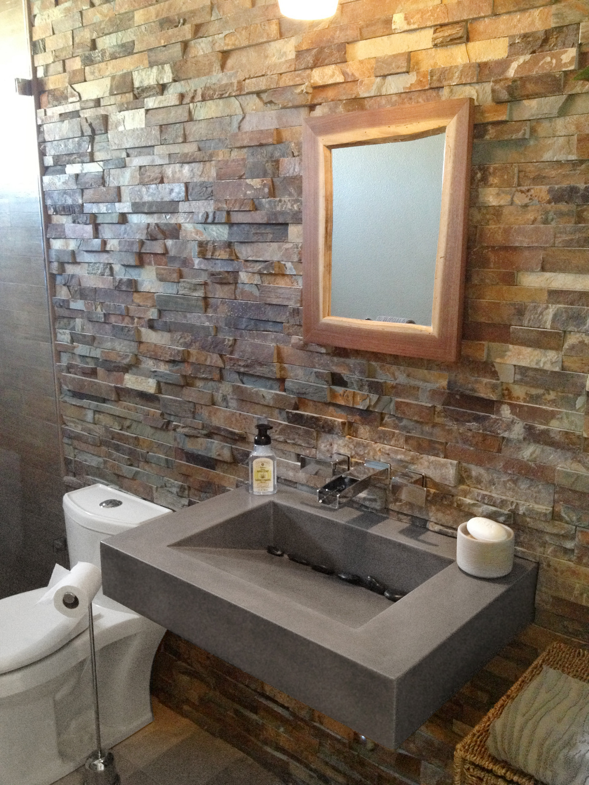 floating concrete sink houzz