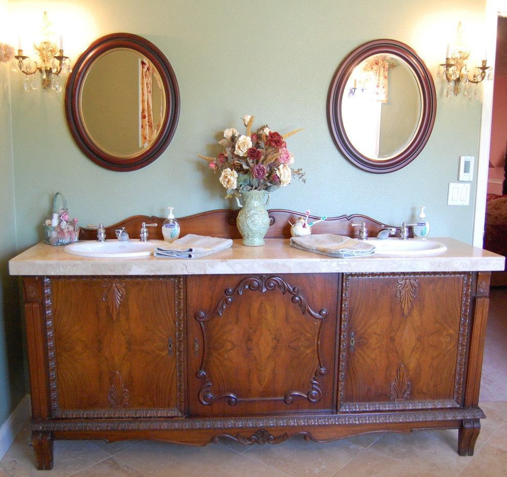 antique sideboard buffet turned into