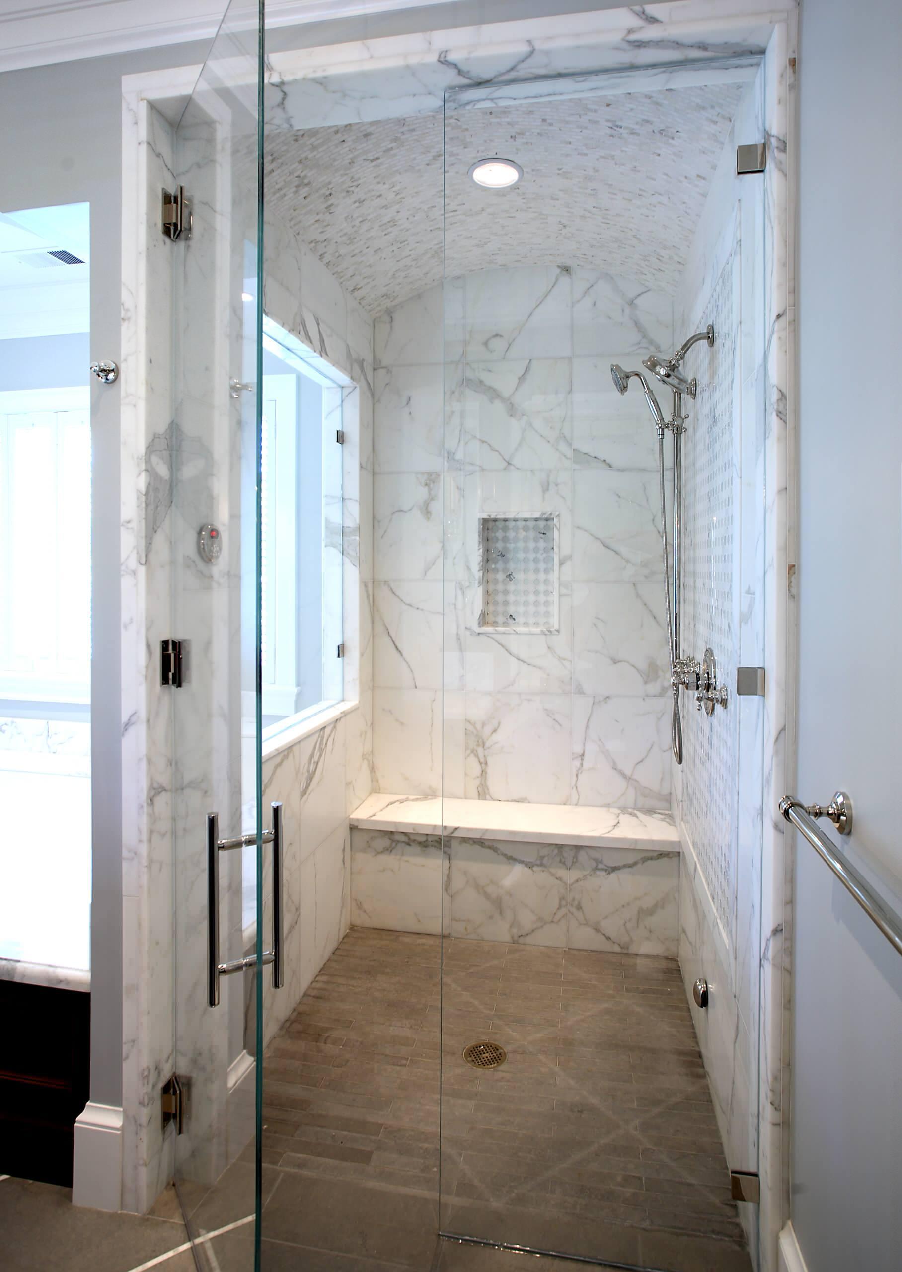 tiled ceiling in shower houzz