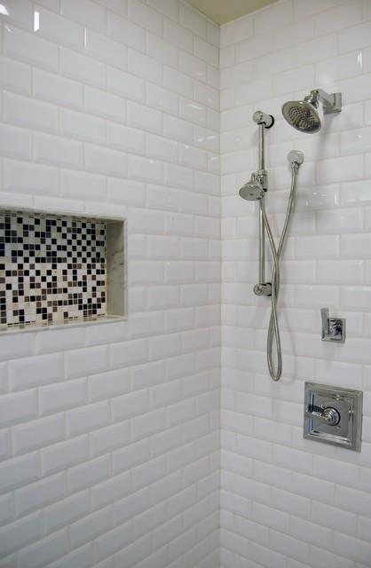 beveled subway tile contemporary