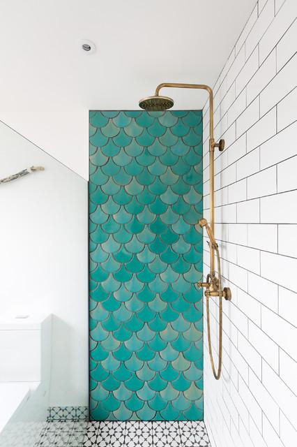birmingham house fish scale tiles