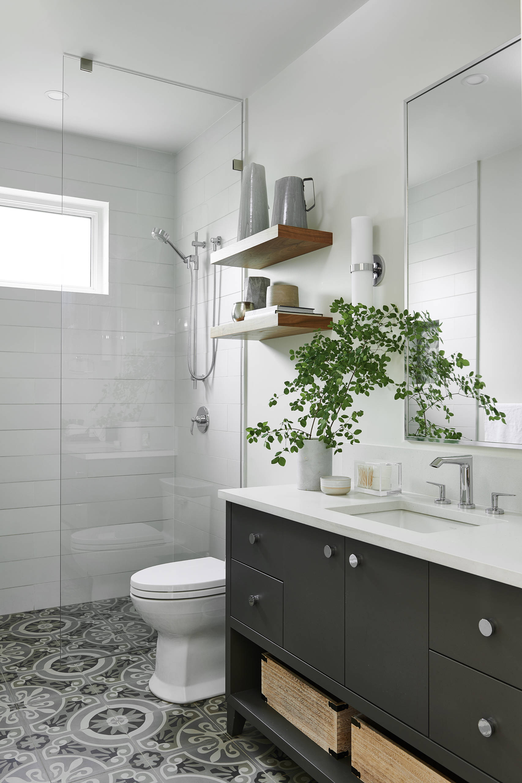 75 beautiful cement tile floor bathroom