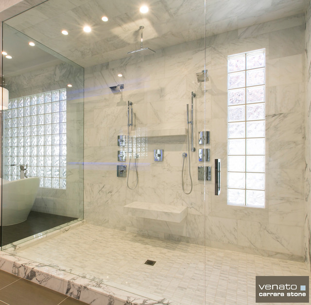 carrara carrera marble bathroom tile