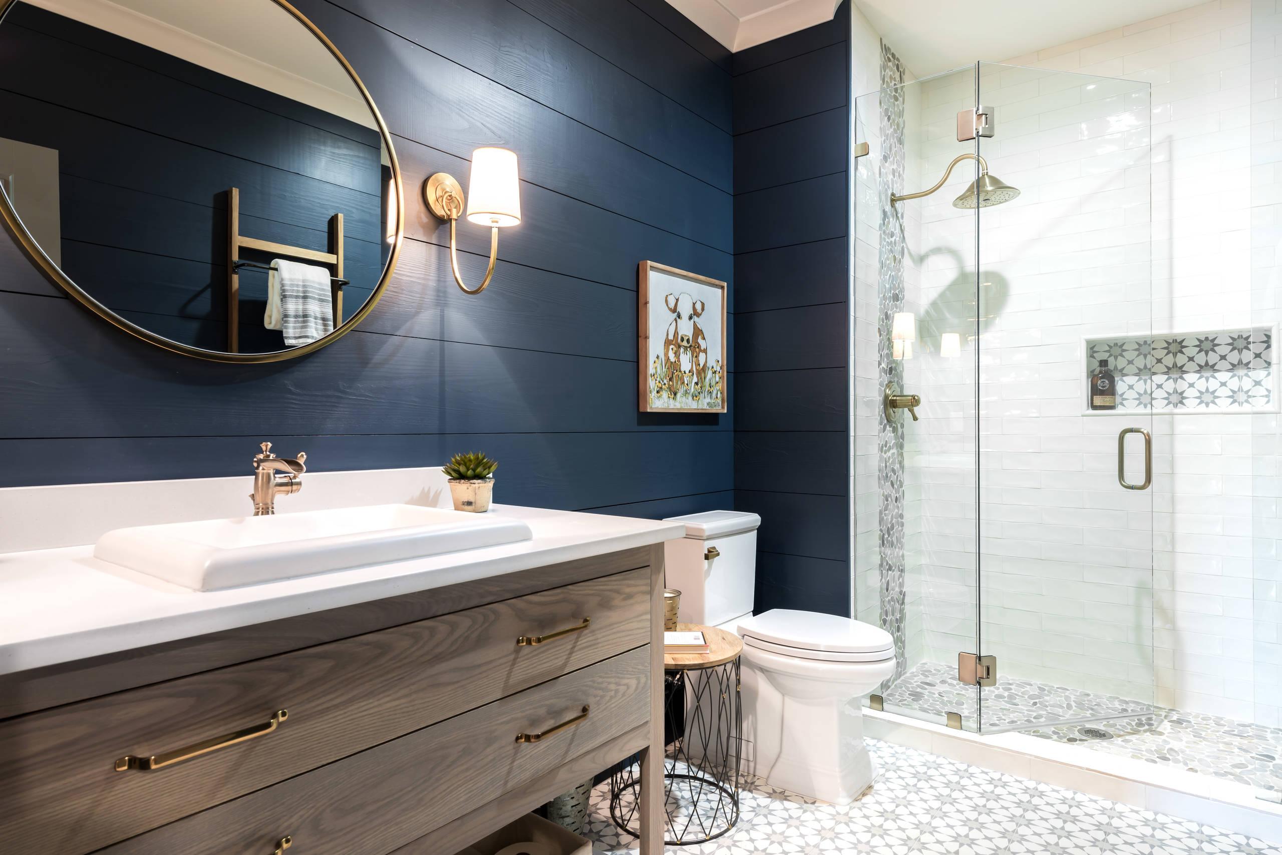 75 beautiful multicolored tile bathroom