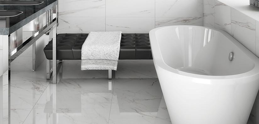 classic bianco carrara porcelain tile