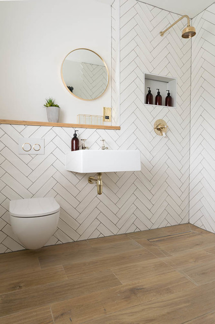 how much of my bathroom should i tile