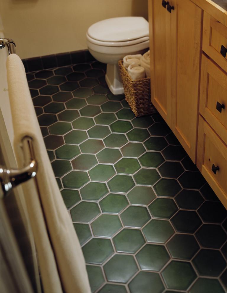 hexagon tile floor craftsman