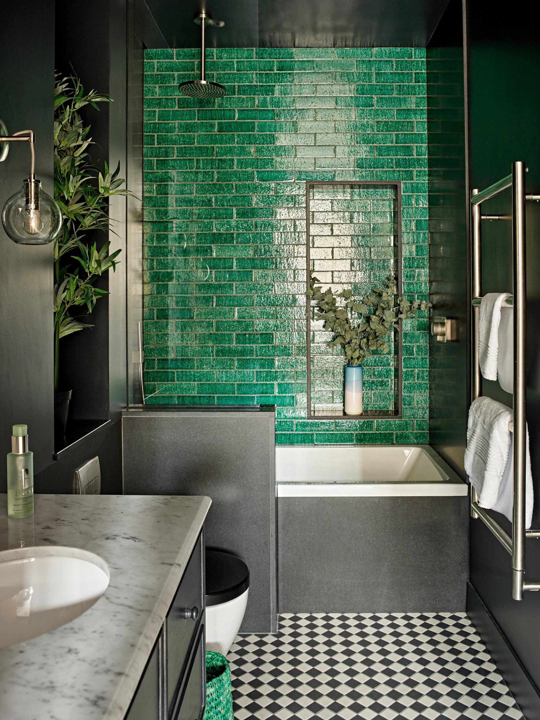 75 beautiful green tile walk in shower