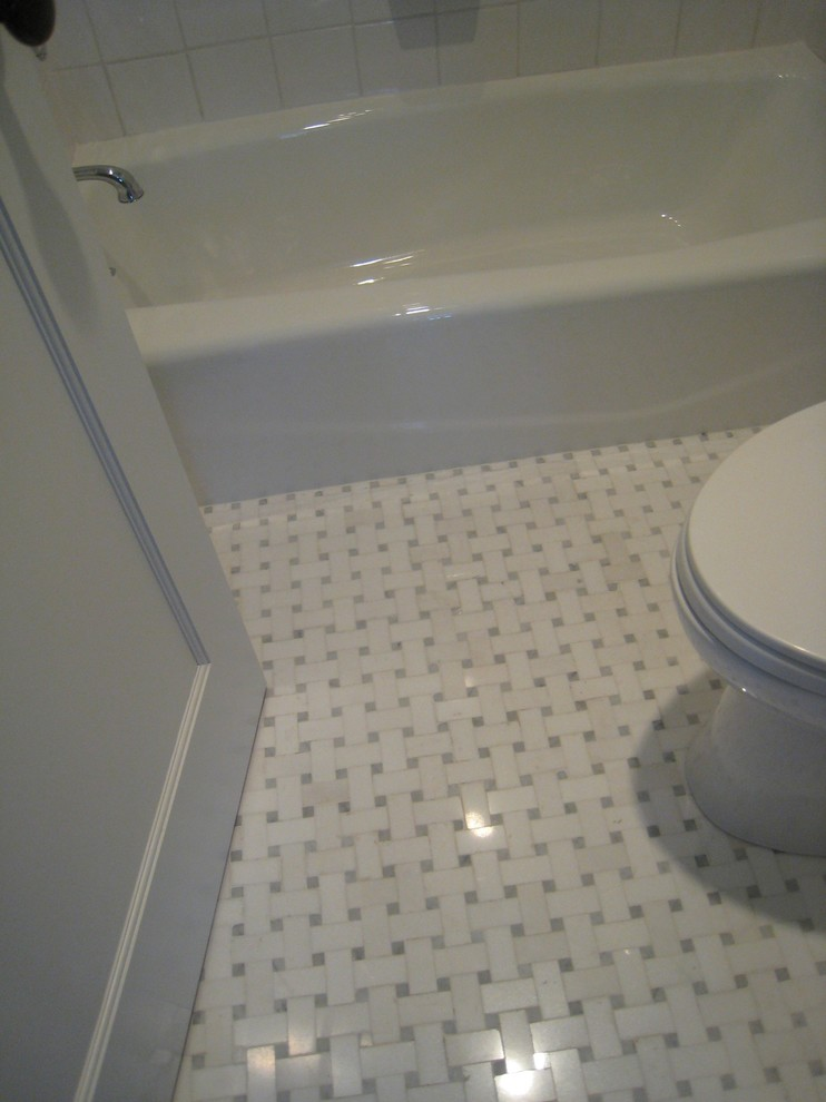 marble basketweave floor tile