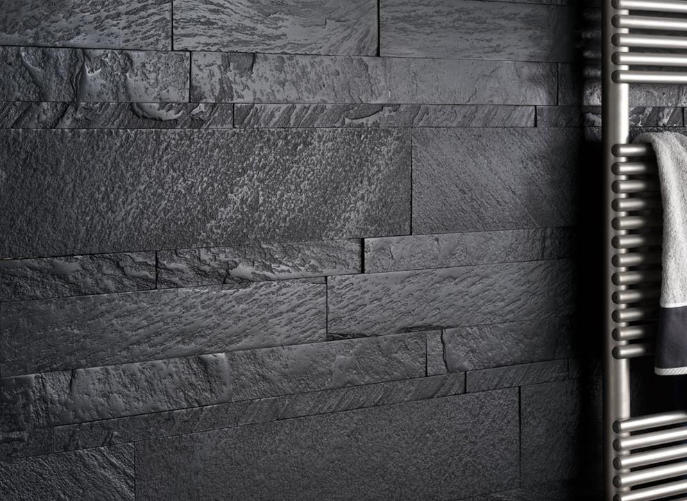 modern dark grey bathroom wall modern