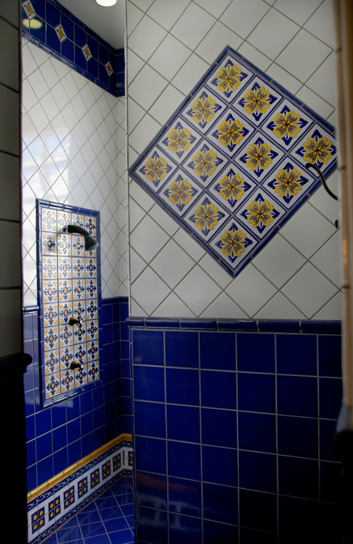 mexican tile bathroom houzz