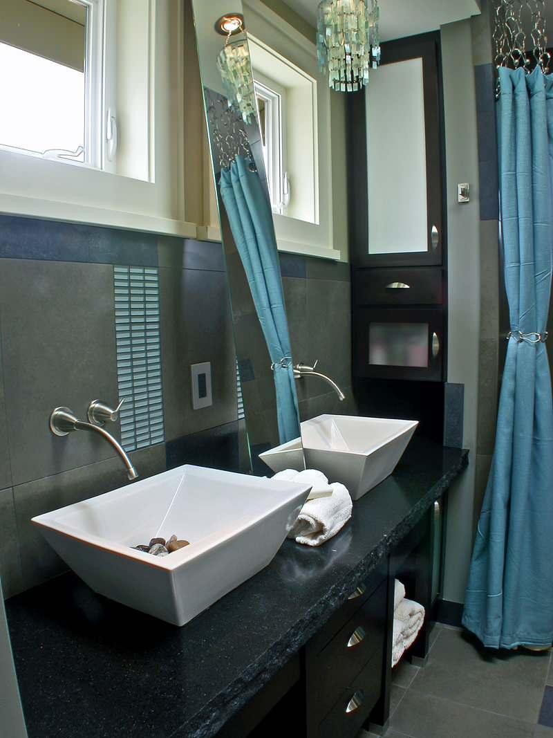 white shower curtain black trim houzz