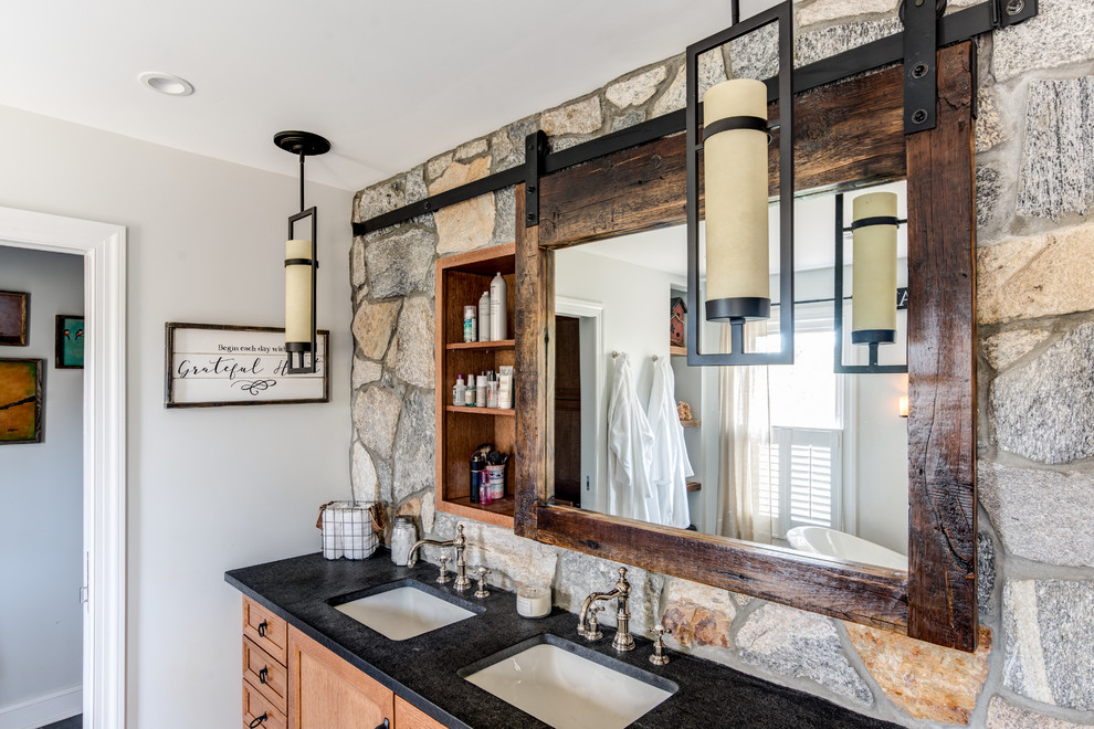 rustic bathroom mirrors image of