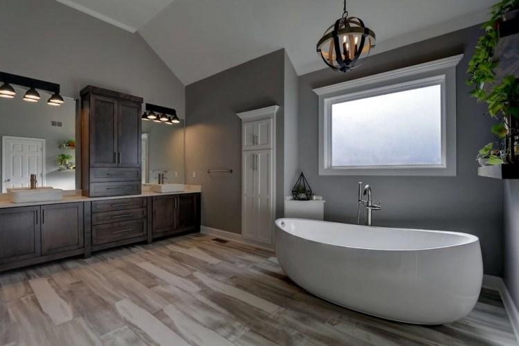 Rustic Modern Master Bath Rustic Bathroom Kansas City By Amanda Lee Interiors