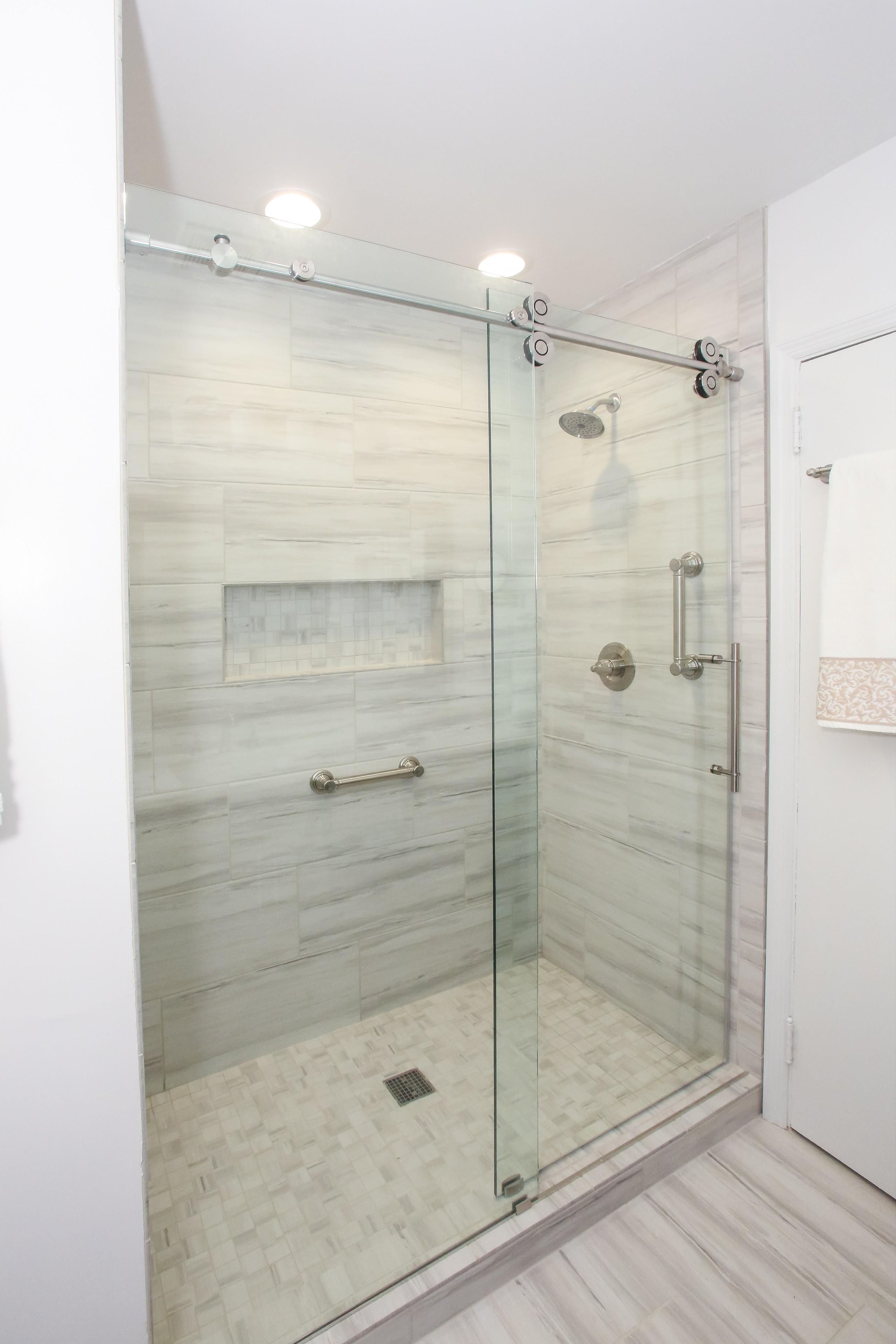 Frameless Barn Sliding Shower Door Houzz