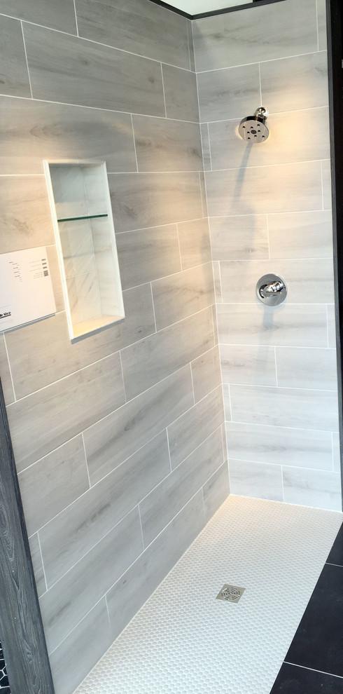 the tile shop gray faux wood shower