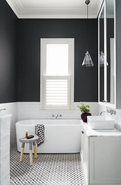 sublimer une salle de bains noire