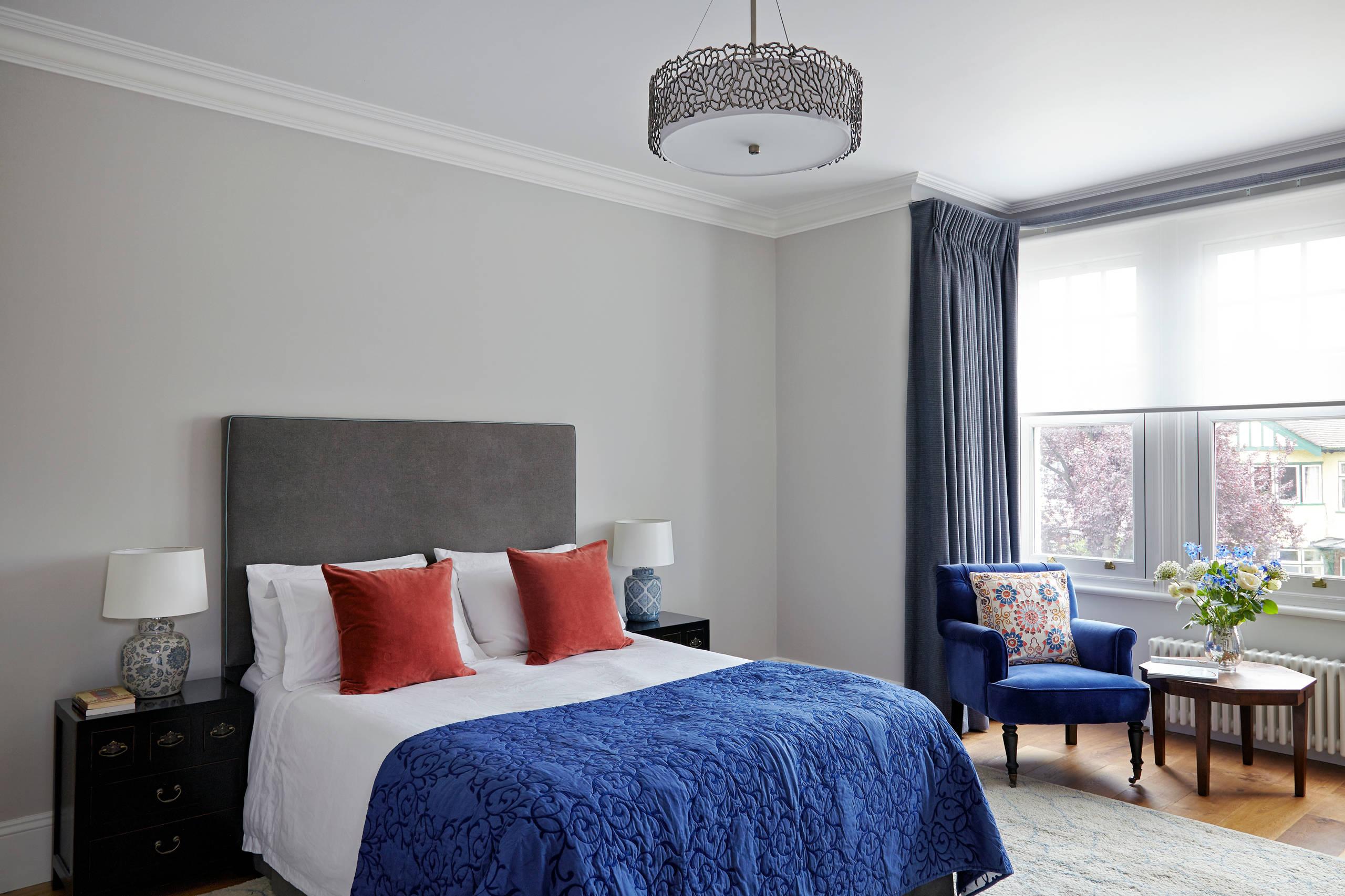 blue grey walls bedroom ideas and