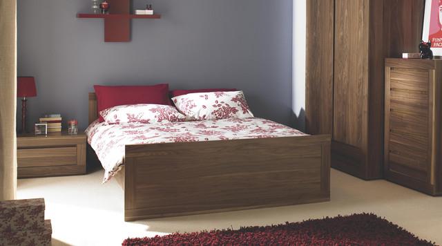 contemporary dark wood free standing