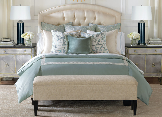 how to dress your bed transitional