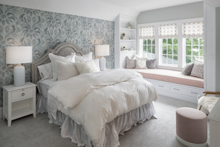Grey And Pink Bedroom Ideas And Photos Houzz