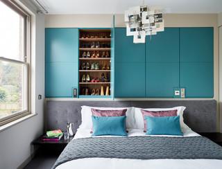 Scegli tra un'ampia gamma di materiali e finiture e trova l'armadio perfetto per ogni stile in camera da letto. 75 Beautiful Turquoise Bedroom Ideas Designs September 2021 Houzz Au