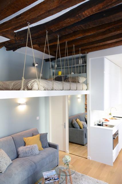 lits mezzanines optimisent les studios