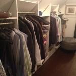 Slanted Ceiling Closet Houzz