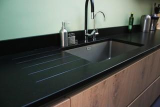 et noir mat plan en granit modern